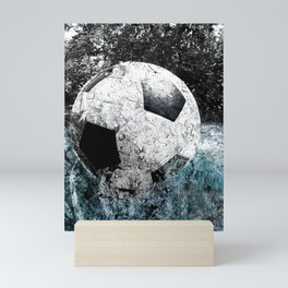 Modern soccer version 1 Mini Art Print