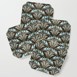 Blue - Arts and Crafts Inspired Stylized Floral Pattern - Susan Weller Coaster
