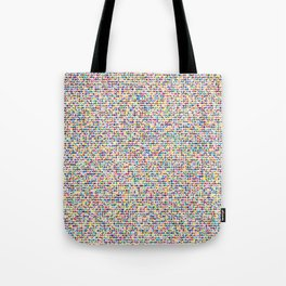 Cuben mini cube grid Tote Bag