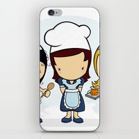 cook iPhone & iPod Skins featuring Cook by Jaqueline Teixeira