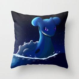Lapras Throw Pillow