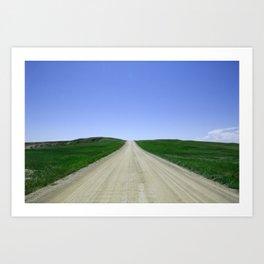 Western Road Meets Sky Art Print