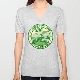 Charlie Don't Surf 1 Da Nang Beach 1967 T-Shirt Unisex V-Neck