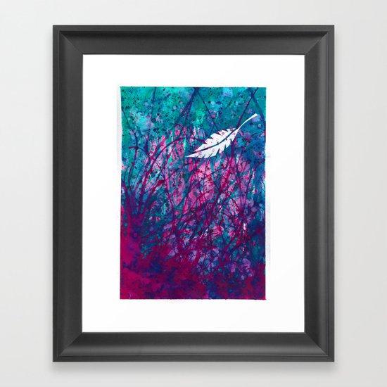 Floating Feather Framed Art Print