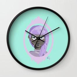 Pastel Vampire Woman Wall Clock