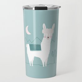 Alpaca In The Mountains Travel Mug