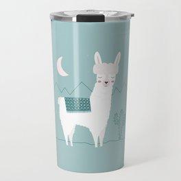 Alpaca In The Mountains Travel Mug