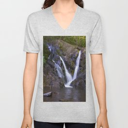 Purple Waterfall Unisex V-Neck