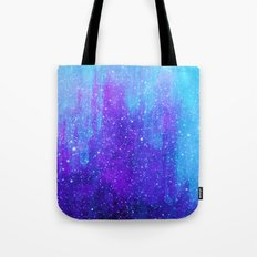 Space Ice Starfield Blue and Purple Tote Bag