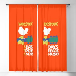 Woodstock, the biggest music festival in the 60s Blackout Curtain