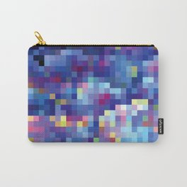 Purple Pixellation Carry-All Pouch