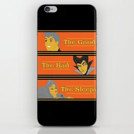 The Good The Bad And The Sleepy iPhone Skin