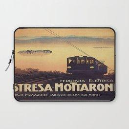 Vintage poster - Stresa-Mottarone Laptop Sleeve