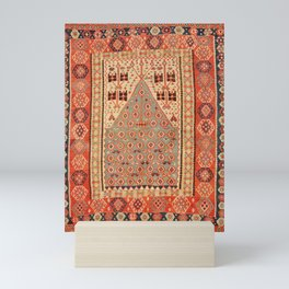 Antique Erzurum Turkish Kilim Rug Print Mini Art Print