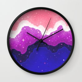 Genderfluid Pride Galaxy Wall Clock