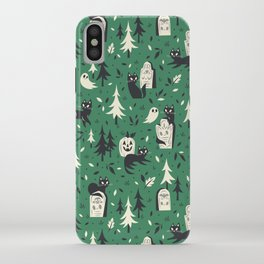 Cemetery Cuties (Green) iPhone Case