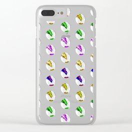 Marbles on Wood Pattern Clear iPhone Case
