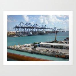 Freeport, Bahamas Art Print