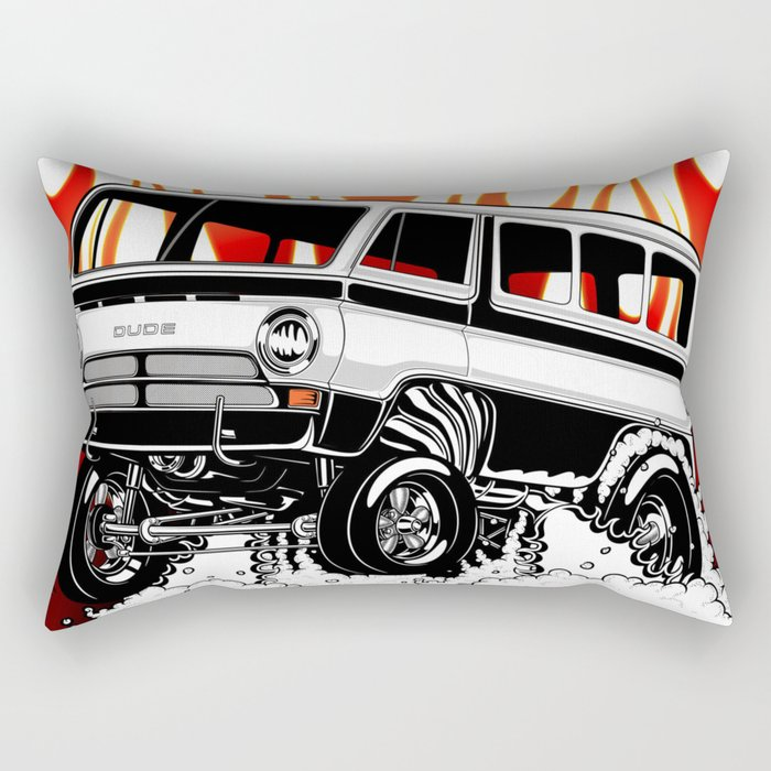1969 GASSER VAN - BLACK Rectangular Pillow