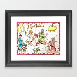Golden Girls Flash Sheet Framed Art Print