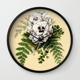 Pansy Easter Egg Wall Clock