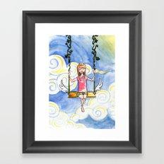 The Sky Swing Framed Art Print