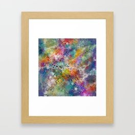 PAINT STAINED ABSTRACT Framed Art Print