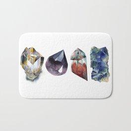 Watercolor Gems Bath Mat