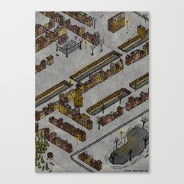 Wintery Town Canvas Print