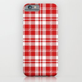 Cozy Plaid in Red and White iPhone Case