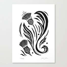 Thistle - Black and White Canvas Print