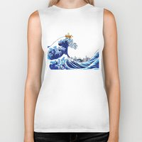 calvin Biker Tanks featuring Surfs up Calvin! by Ancora Imparo