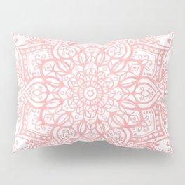 Light Pink Mandala Pillow Sham