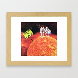 Thank you for not smoking Framed Art Print