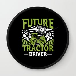 Tractor Driver Wall Clock