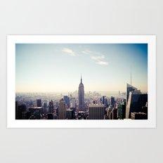 Manhattan - Empire State Building Pano | colored Art Print