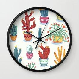 Cactus Poster Wall Clock