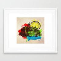 chicago Framed Art Prints featuring Chicago by Badamg