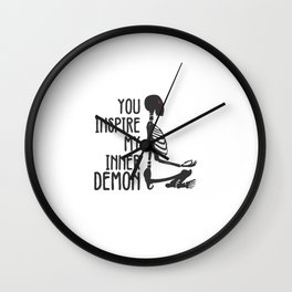 Inspire my Inner Demon Wall Clock