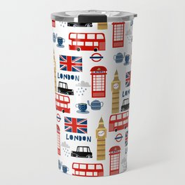 London travel pattern cute england print for nursery kids room boys or girls decor Travel Mug