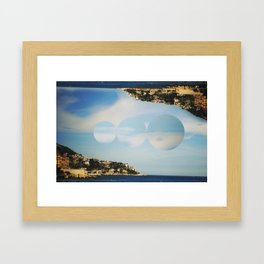 between the islands. Framed Art Print