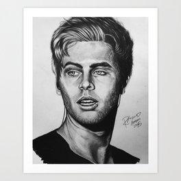 luke hemmo drawing Art Print