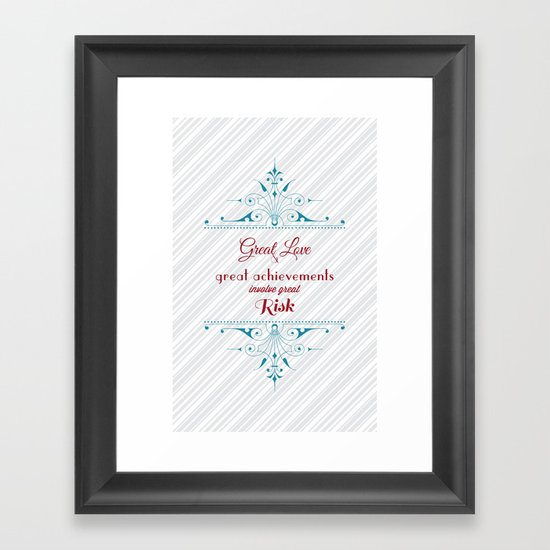 Great Love Framed Art Print