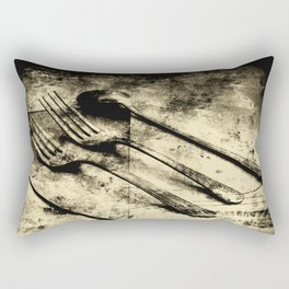 Vintage Forks and Spoon Rectangular Pillow