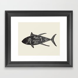 Tuna Butcher Diagram-Fish Framed Art Print