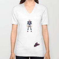 patriots V-neck T-shirts featuring Pats - Tom Brady by IllSports