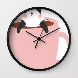 Cute-Coffee-Panda Wall Clock