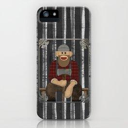 Sockmonkey Lumberjack iPhone Case