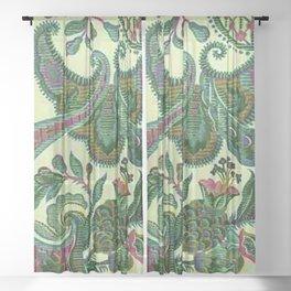 Eleganza Paisley Floral Sheer Curtain