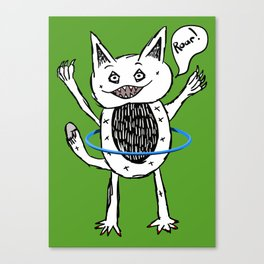Monster Hula Hoop Canvas Print